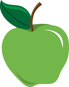 Free Clipart Green Apple.
