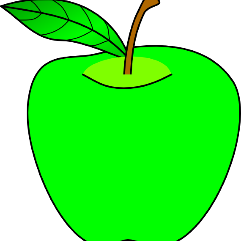 Clip Art Openclipart Apple Green Image Cartoon Apples.