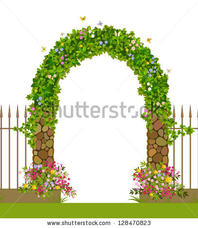 Garden Arch Stock Photos, Royalty.