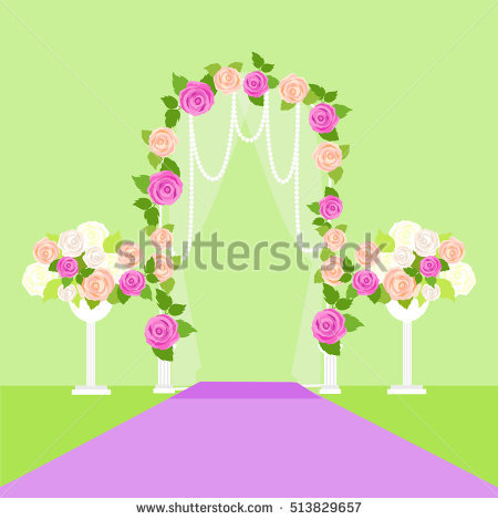 Wedding Arch Stock Photos, Royalty.
