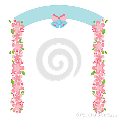 Wedding Garden Arch Stock Illustrations.