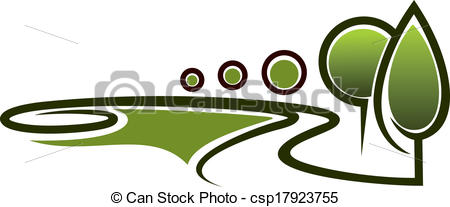Clipart Vector of Landscape area symbol.