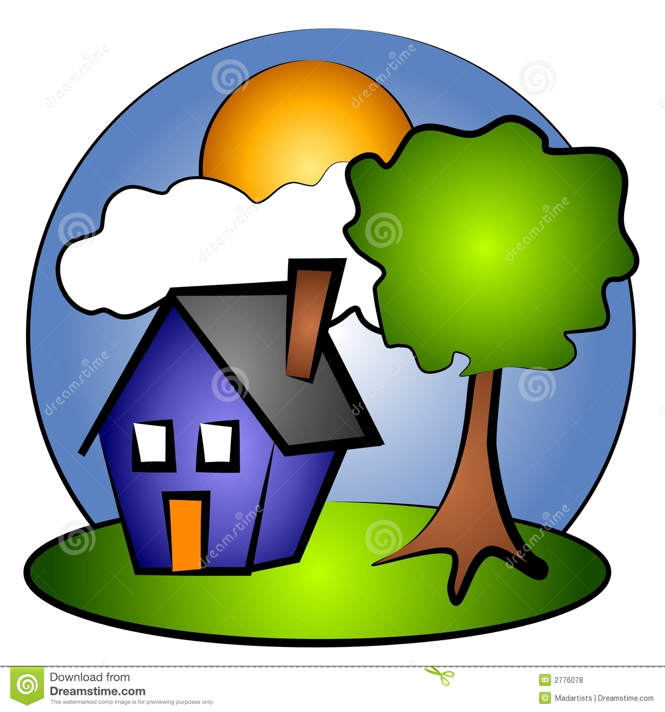 Rural areas clipart.