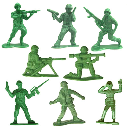 Green Soldier Men Clipart.