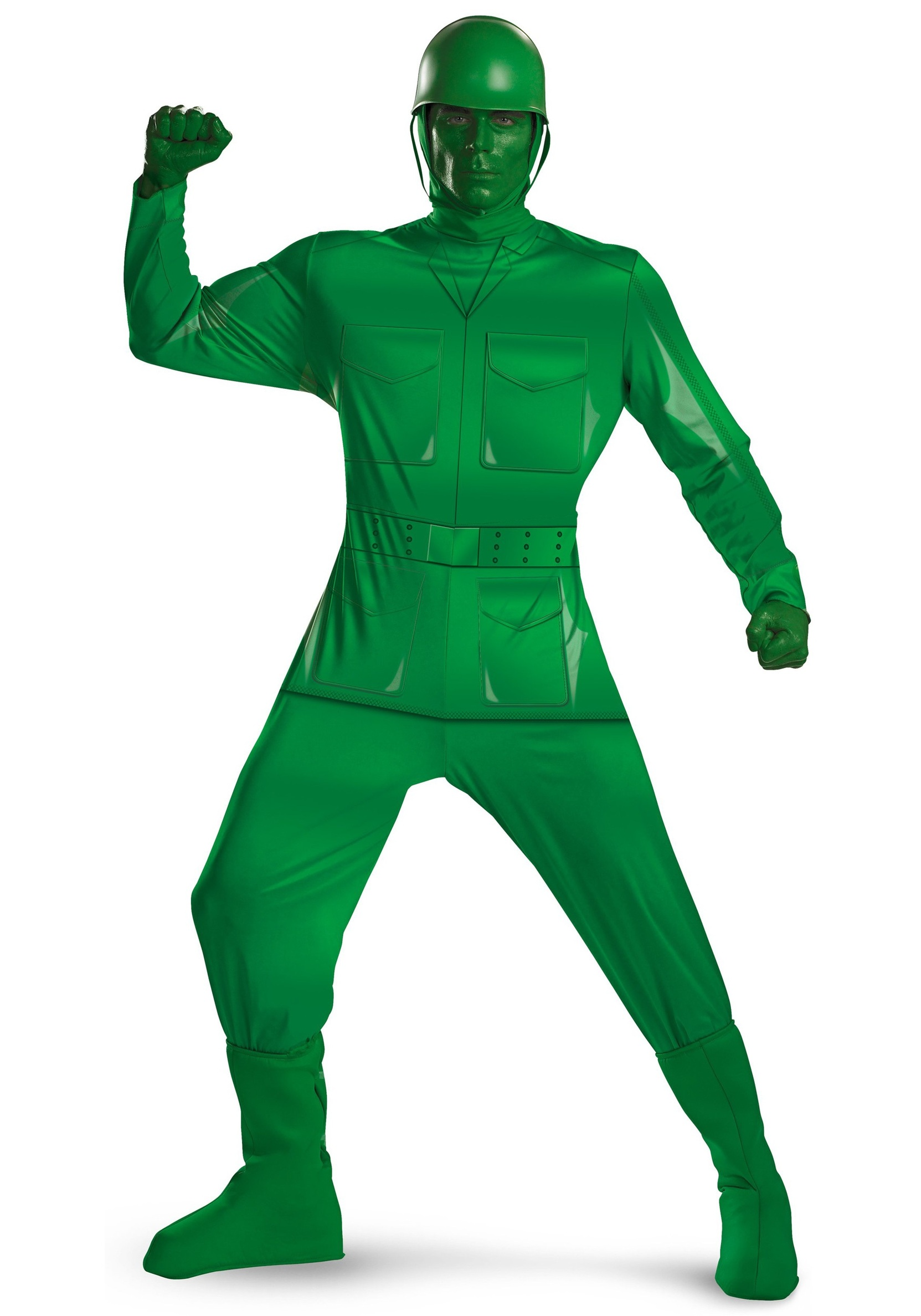 Adult Toy Story Green Army Man Costume Clipart.