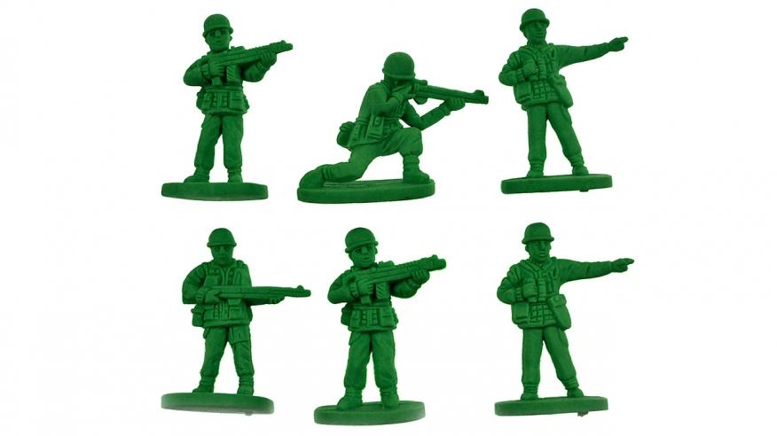 Green Army Man Clipart.