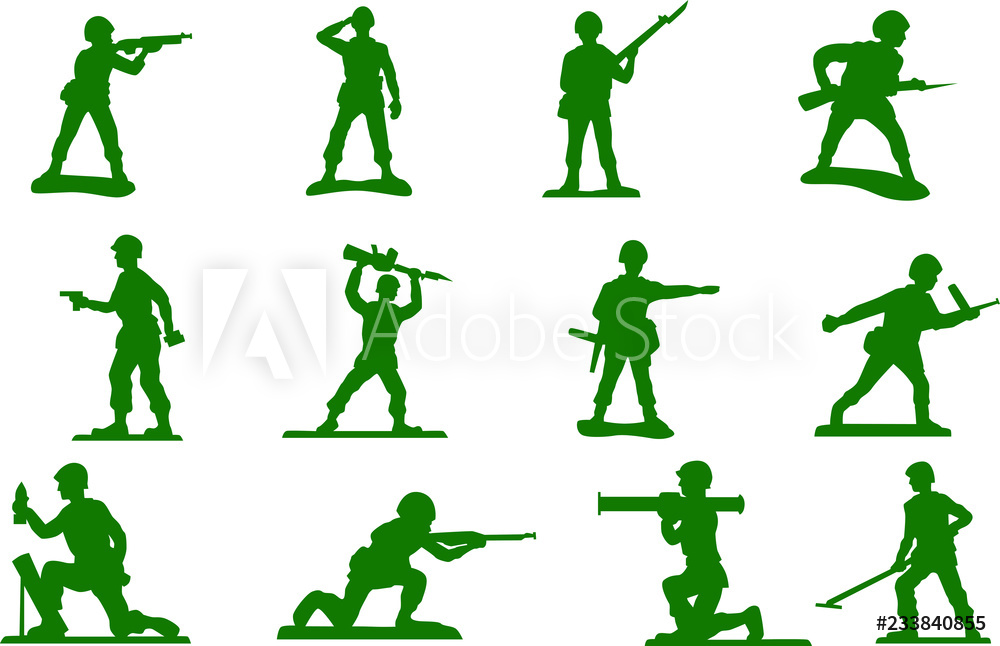Photo & Art Print Toy green army men plastic soldiers.