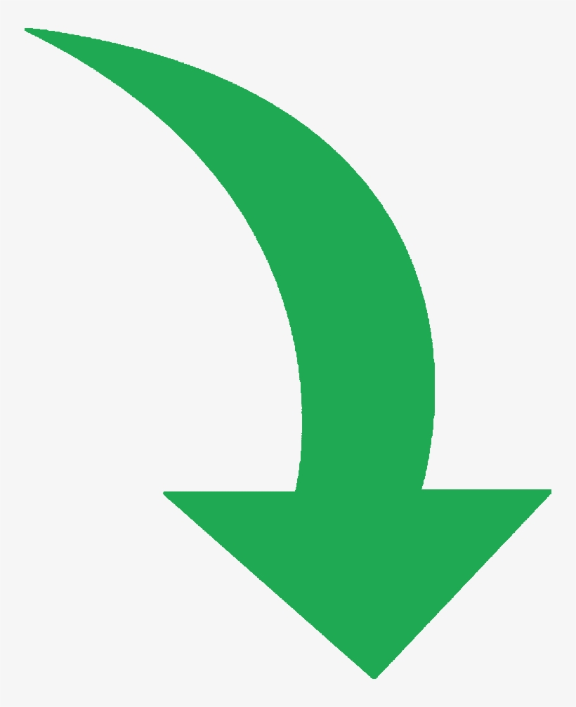 Services Green Curved Arrow Png.