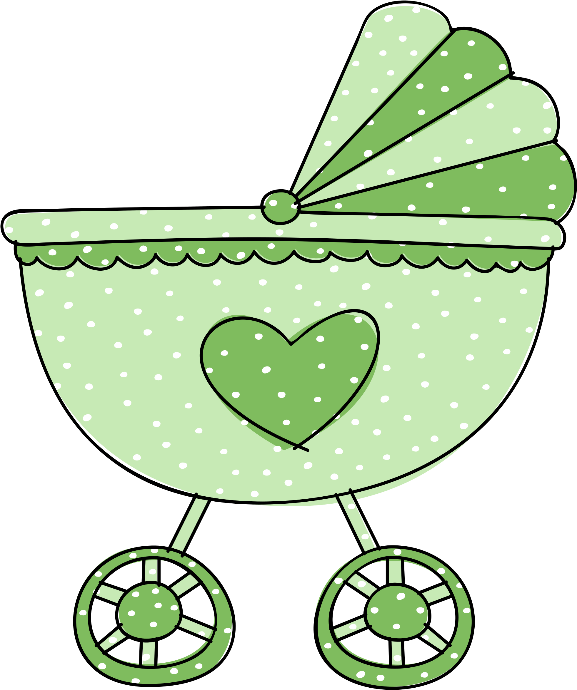 Baby Stroller Clip Art/ Baby Carriage Clipart , Transparent.