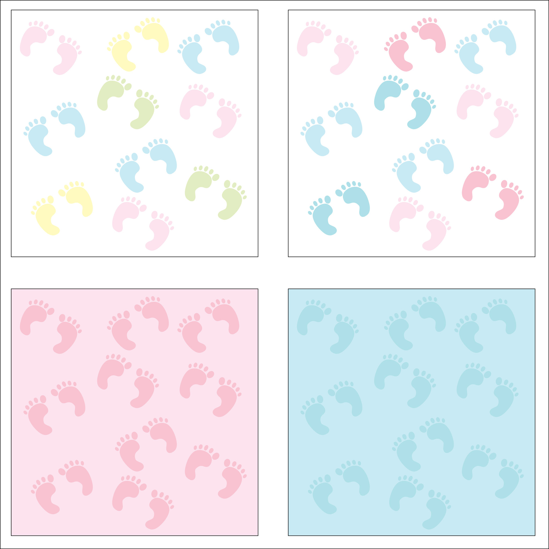 Baby Footprints Blue Clipart Free Stock Photo.
