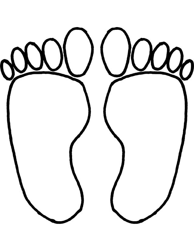 Baby Footprint Coloring Pages.