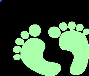 2 Green Baby Feet Clip Art at Clker.com.