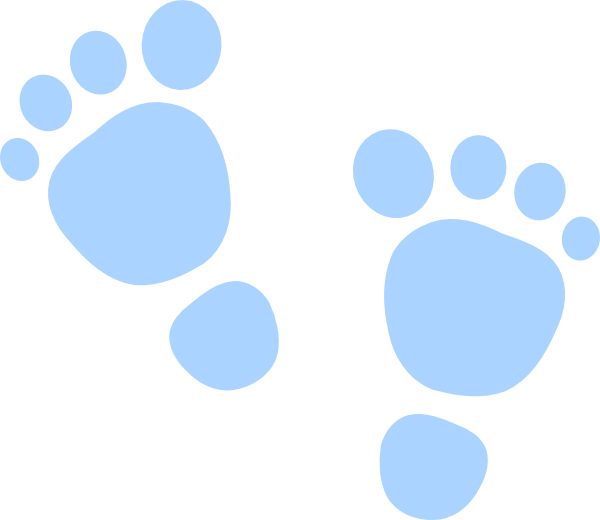 Green Baby Footprint Clipart.
