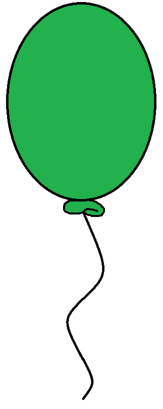 Green Balloon Clipart.