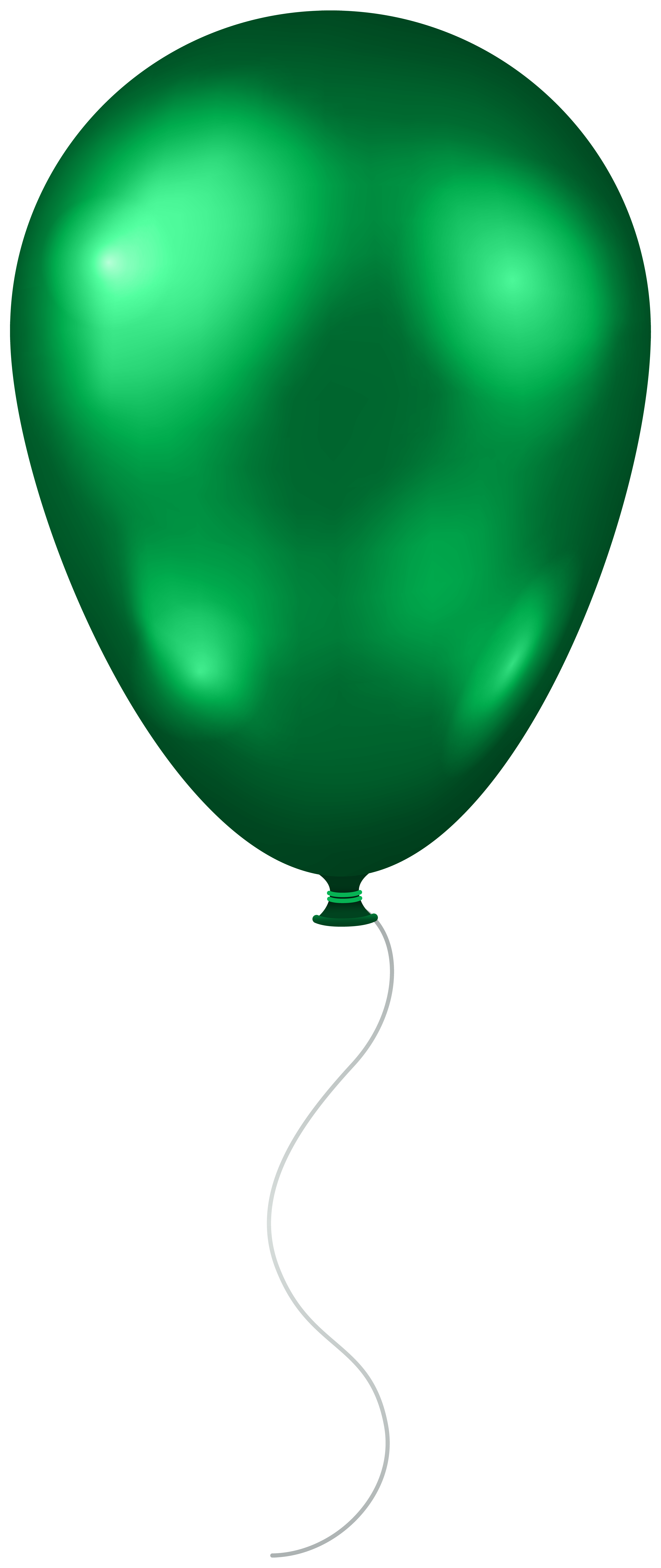Green Balloon Transparent PNG Clip Art Image.