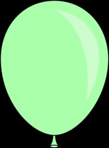 Light green balloon clip art at vector clip art.