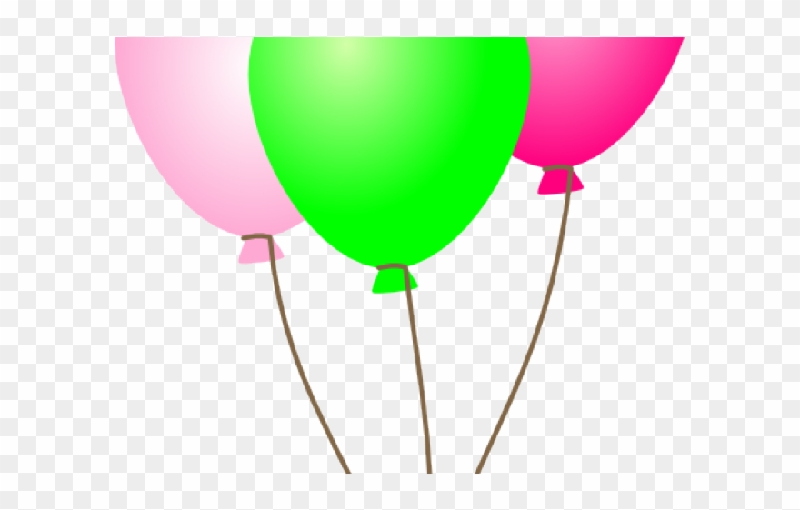 Pink And Green Balloons Png Clipart (#1864662).