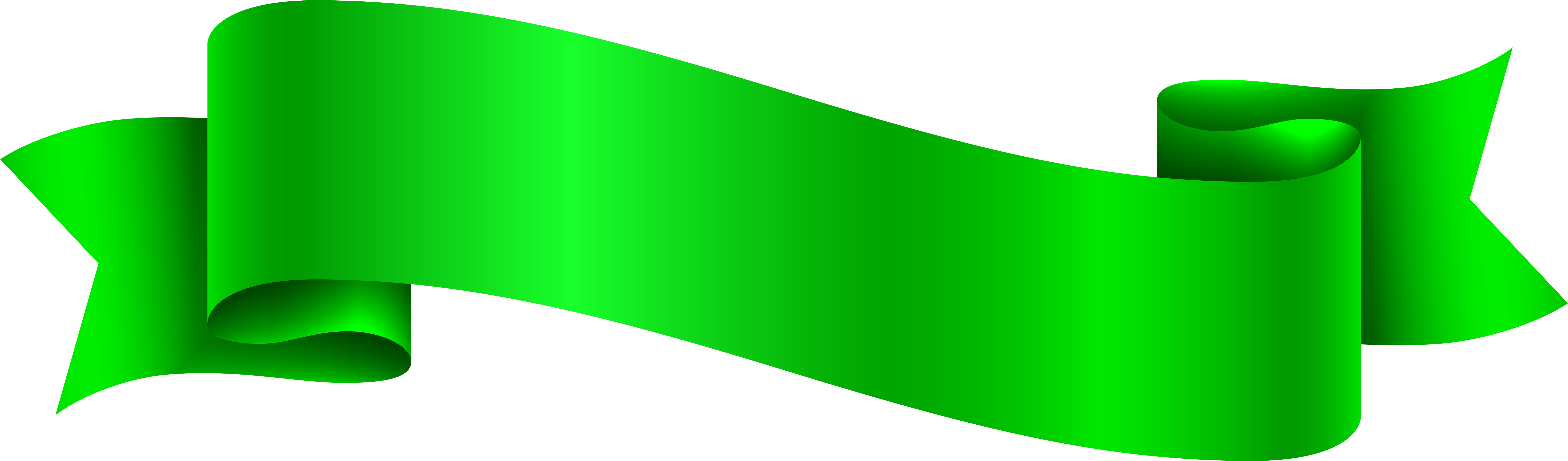 Green Banner Png.