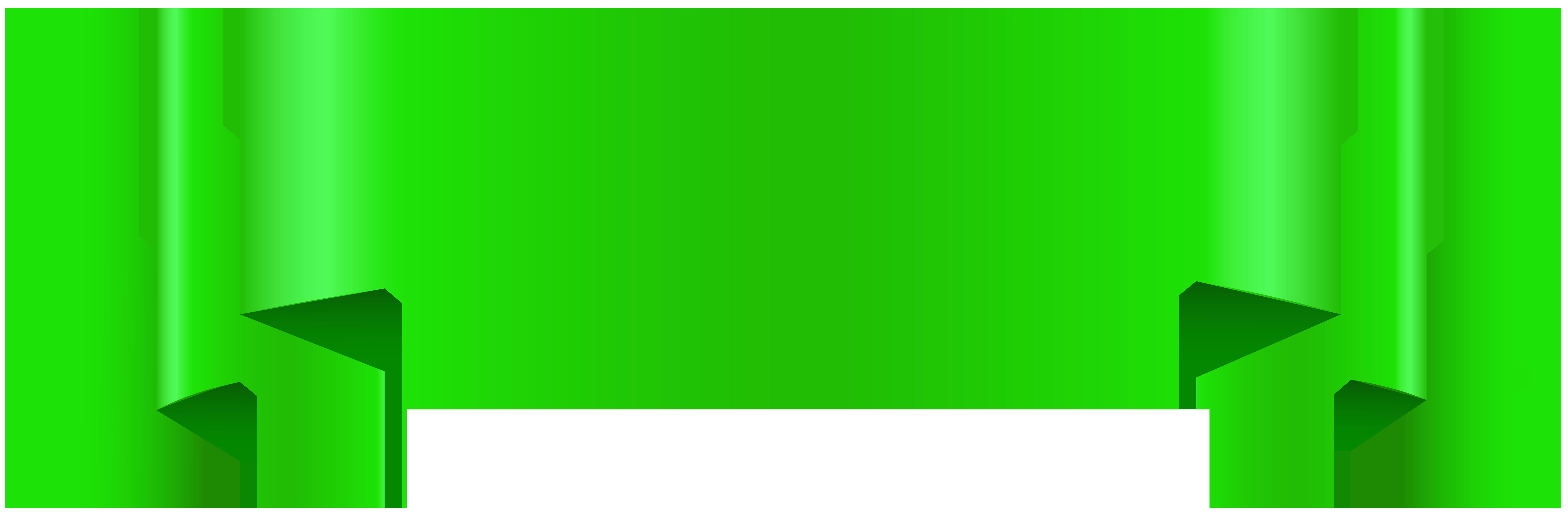 Green Banner Transparent Clip Art.