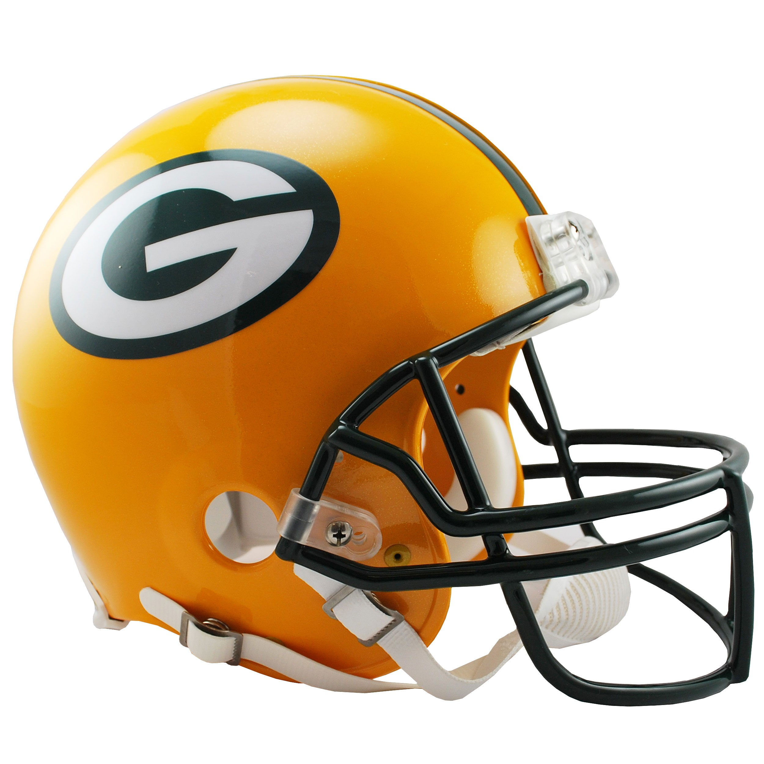 Green Bay Packers Authentic Helmet at the Packers Pro Shop.