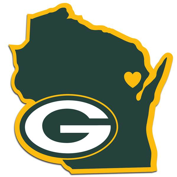 Green Bay Packers Home State Decal.
