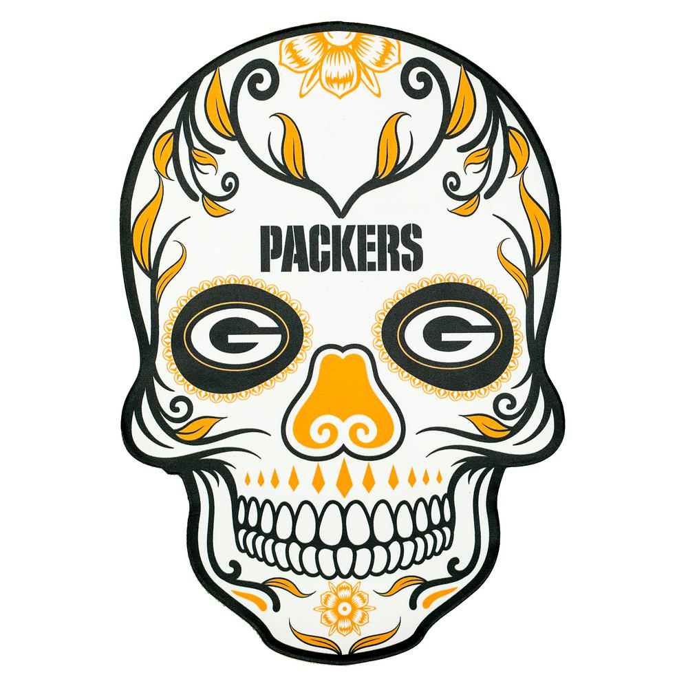 NFL Green Bay Packers Outdoor Skull Graphic.