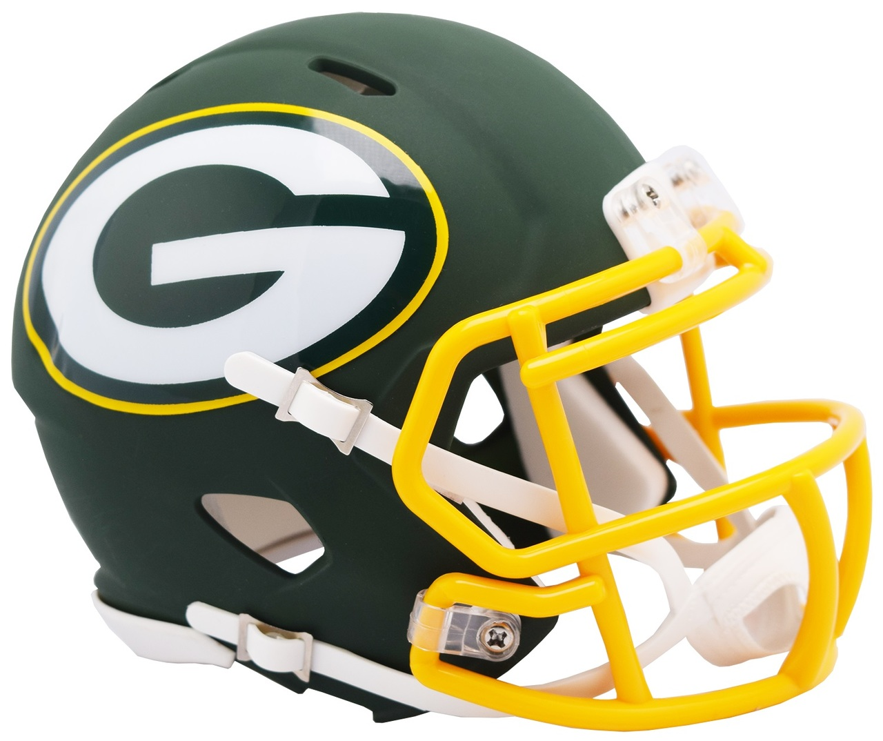 Riddell Green Bay Packers AMP Alternate Speed Mini Football Helmet.