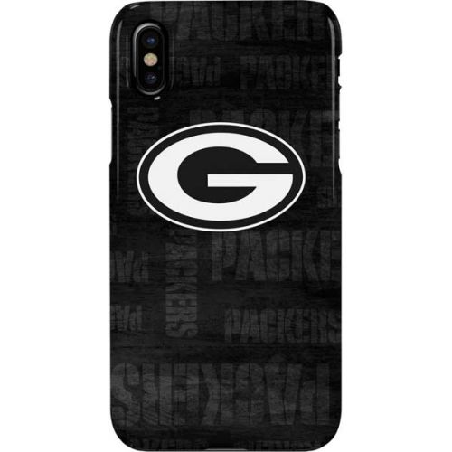 Green Bay Packers Black & White iPhone XS Max Lite Case.