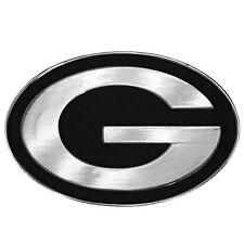 Green Bay Packers Metal Auto Emblem Chrome.