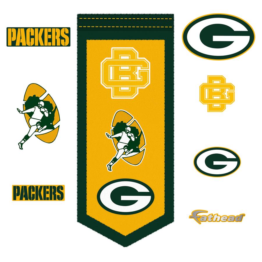Green Bay Packers: Logo Evolution Banner.
