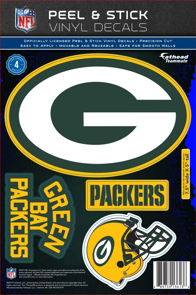 Fathead Green Bay Packers Logo Wall Decal.