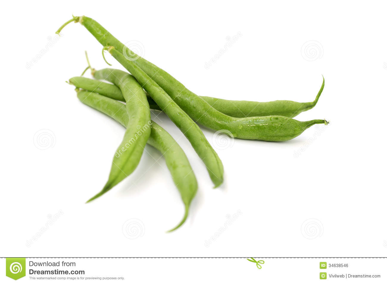 Close Up Of Green Beans Royalty Free Stock Image.