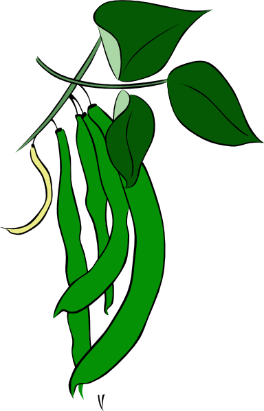 Clip Art Black White And Green Beans Clipart.