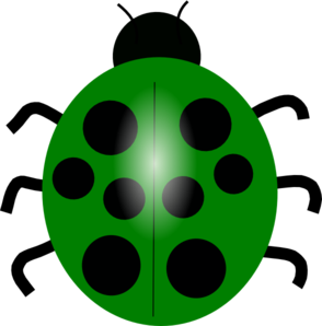 Green bug clipart.