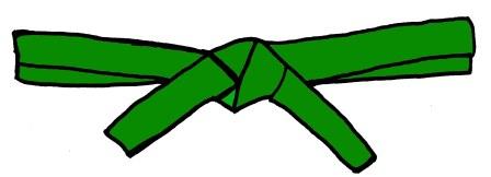 Green Belt Clipart.