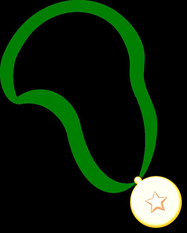 Green Belt Gold Medal Clipart.