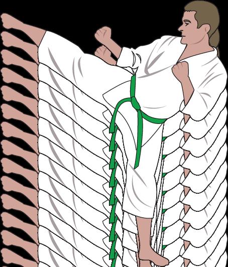 Clipart green belt.