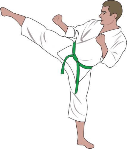 ClipArtFort: People » Sports » Karate green belt.