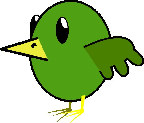 Green Bird Cartoon Clipart.