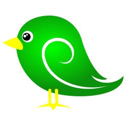 Green Bird Clipart.