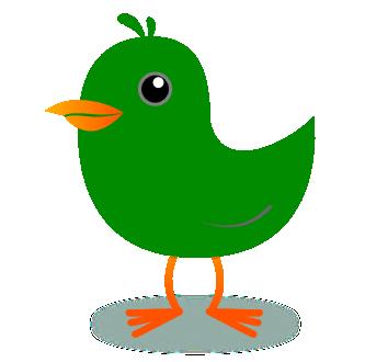 Free green bird clipart.