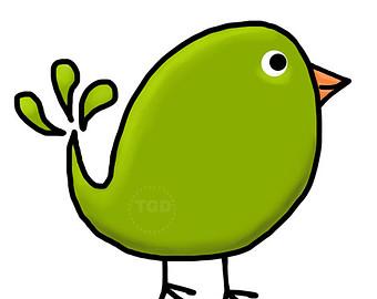 green bird clip art.