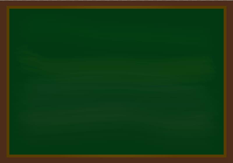 Brown framed green board illustration, Blackboard Can.