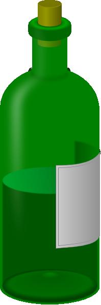 Green Empty Wine Bottle Clip Art at Clker.com.
