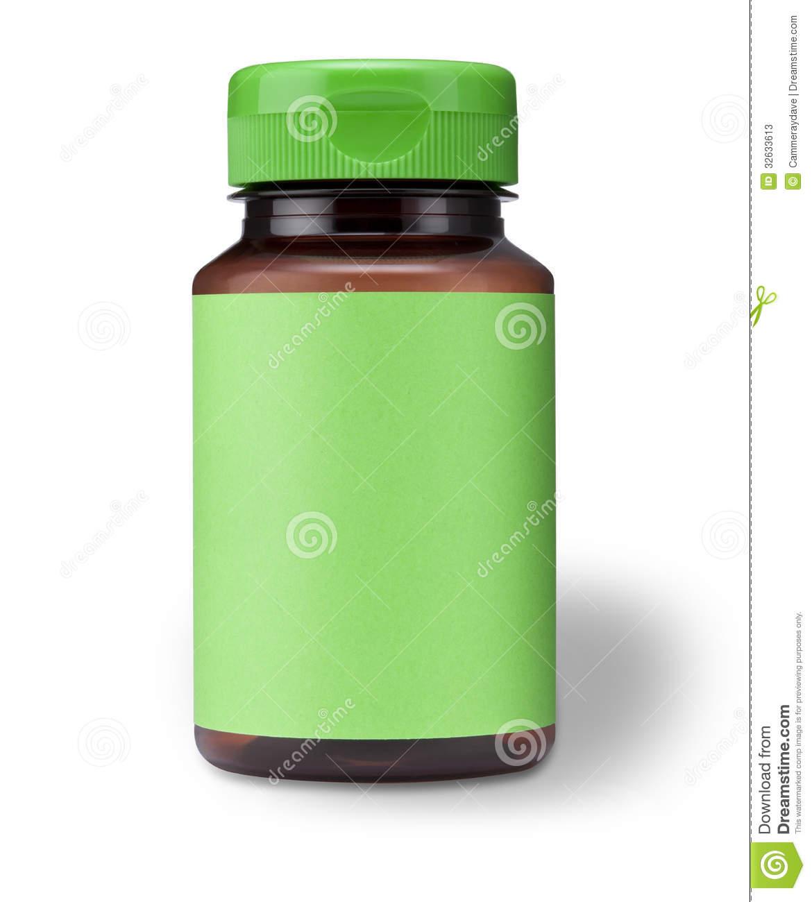 Vitamin C Bottle Clipart.