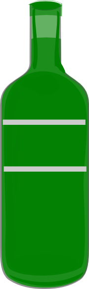 Green bottle clipart.