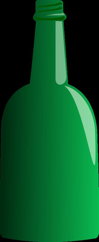 Free Clipart: Green Bottle.