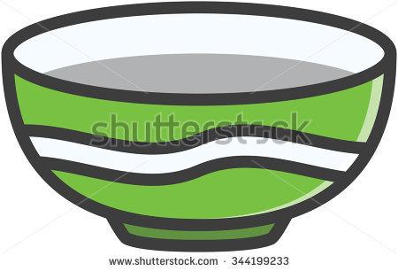 Bowl Vector Cartoon Illustration.