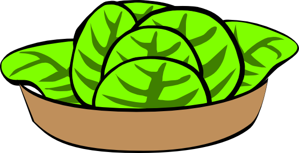 Salad In Bowl Clipart.
