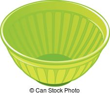Vector Clipart of plastic bowl.